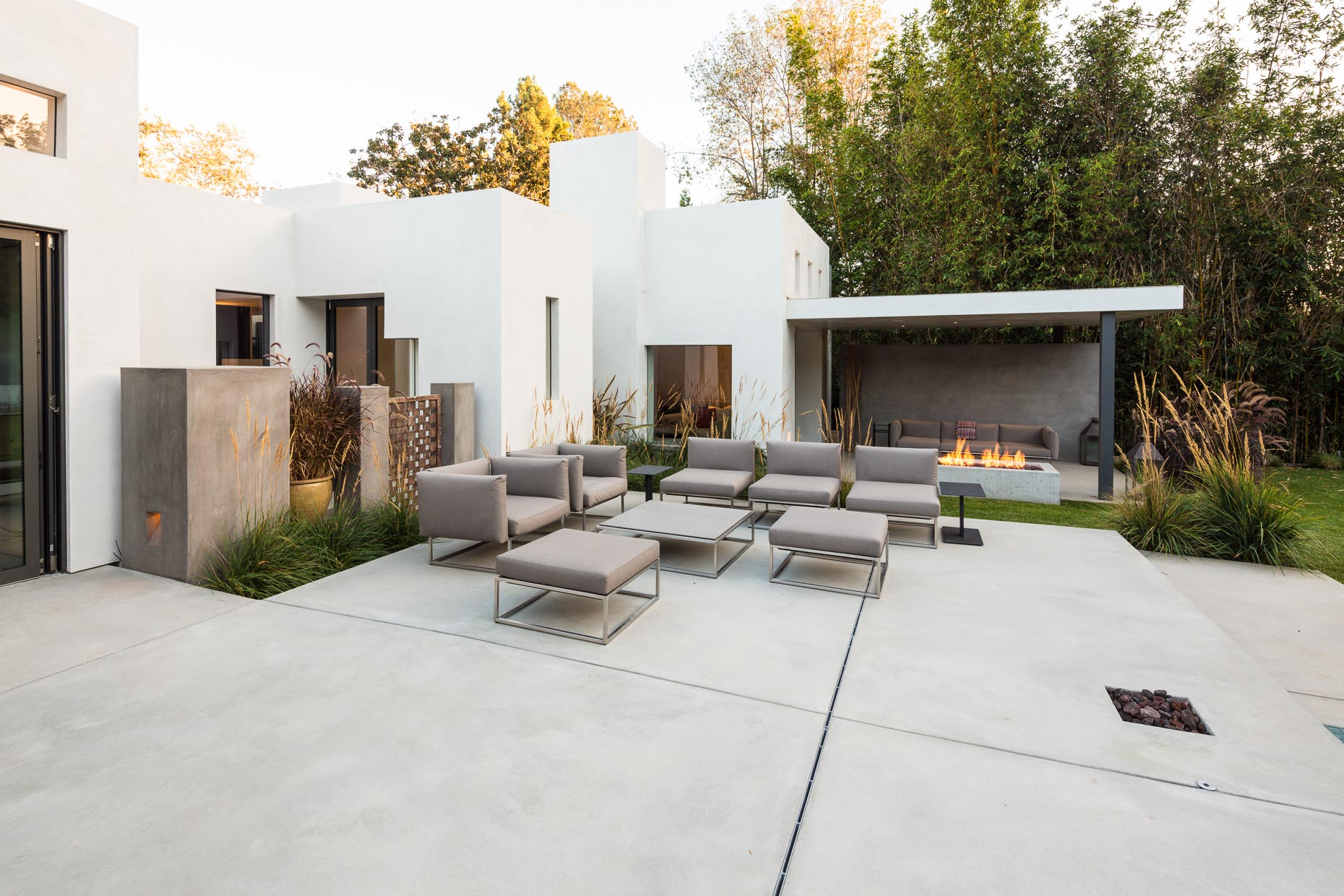 Patio of estate in Los Angeles, California by David Zaitz