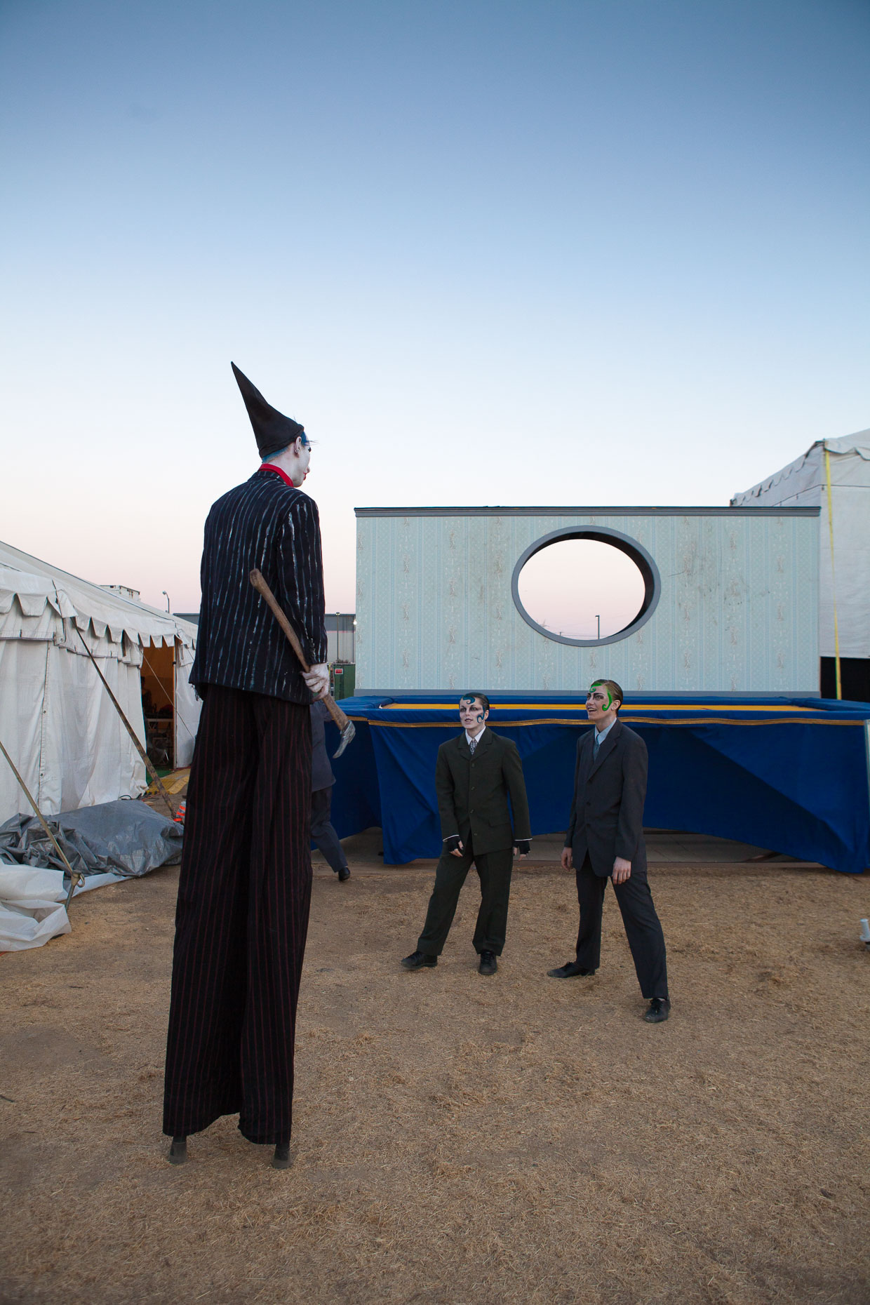 Behind the scenes at Cirque Berzerk circus performers, by David Zaitz