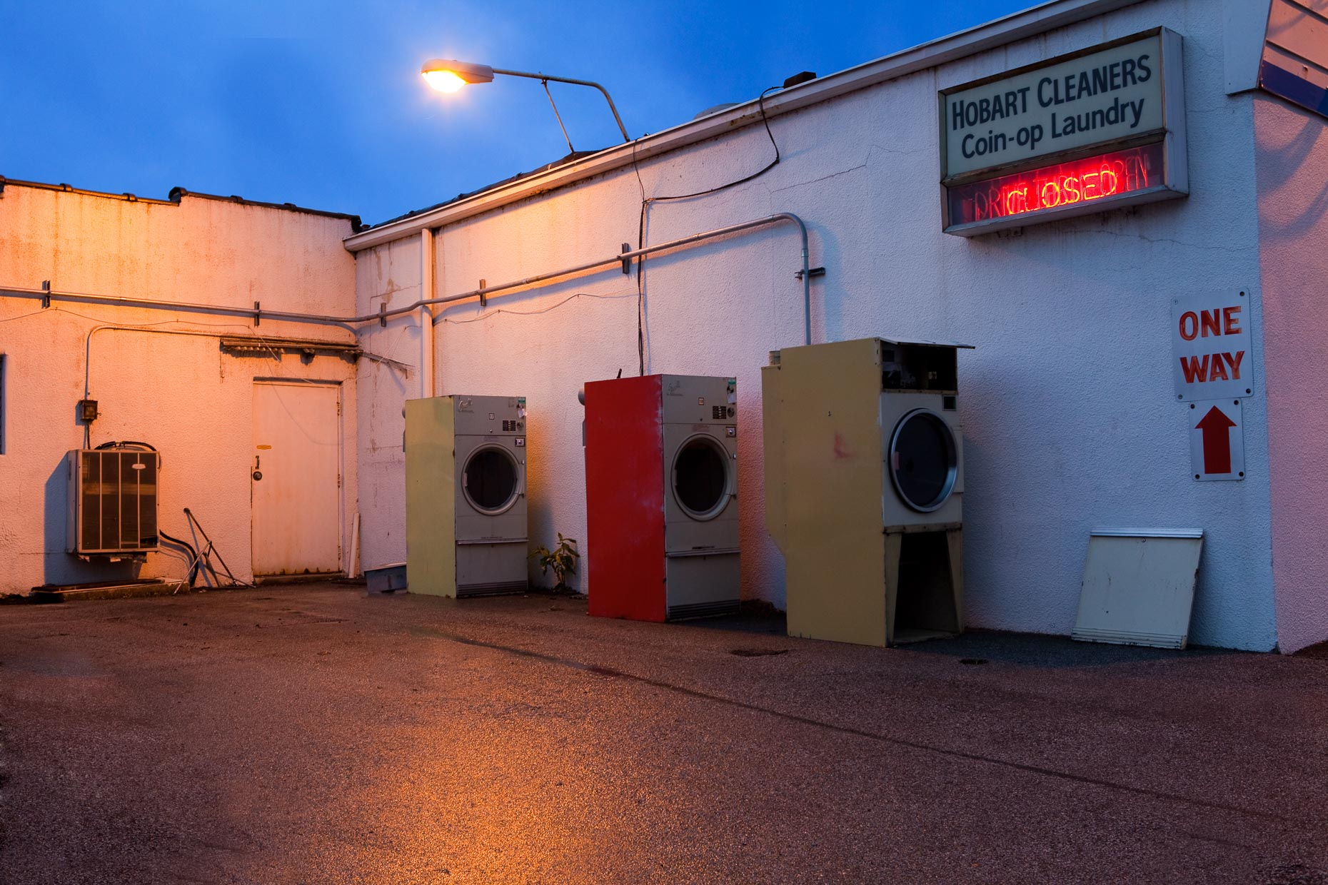 Washing machines dryers behind cleaners coin operated laundry by David Zaitz